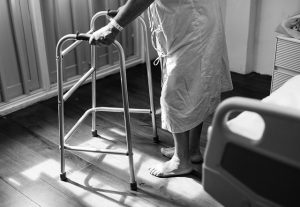 older person in a nursing home